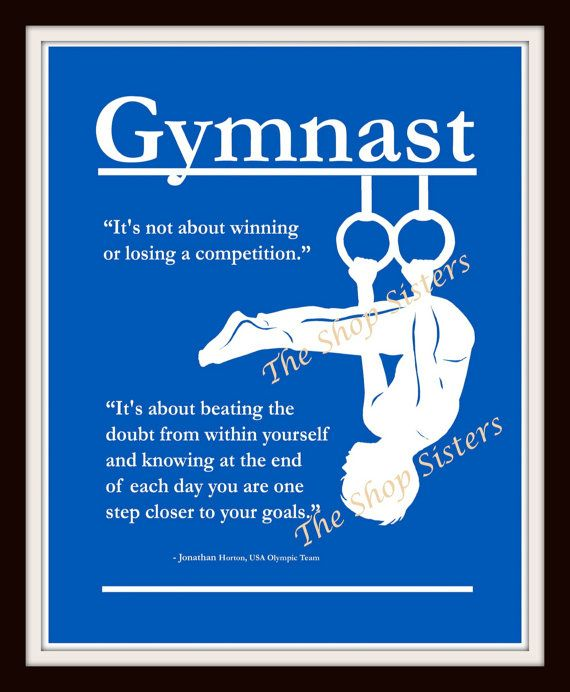 Olympics Gymnast Boy Inspirational Silhouette by TheShopSisters, $15.00, would love one with a girl on it!!