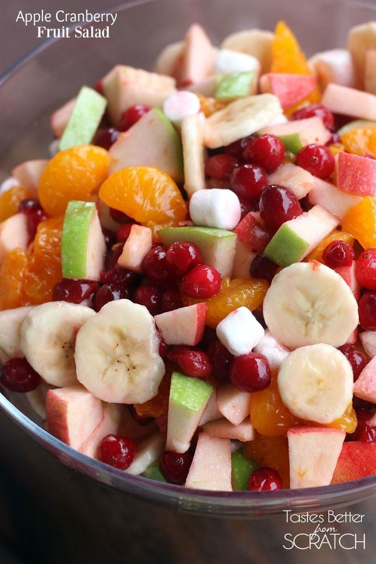 Apple Cranberry Salad is the perfect side dish for holiday entertaining! It's always a crowd favorite! | Tastes Better From Scratch
