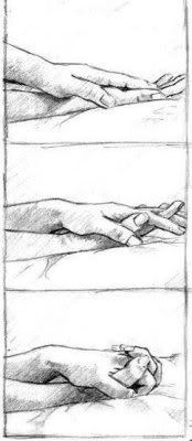 dibujo de manos sensuales tocando