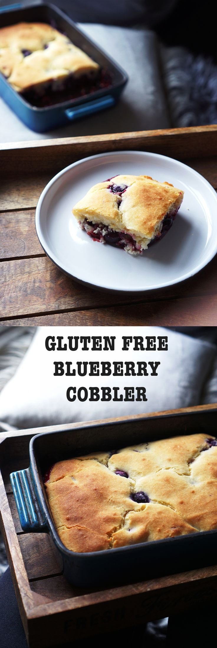 Gluten Free Blueberry Cobbler | #cobbler #blueberry #glutenfree #recipe #food #baking #coeliac