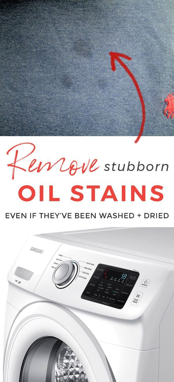 This oil stain removal method really works! How to Remove Set In Oil Stains and Grease Stains #laundry #stainremoval #oilstain #oilstains #laundrytips #cleaning #cleaningtips via @lisetteharrington