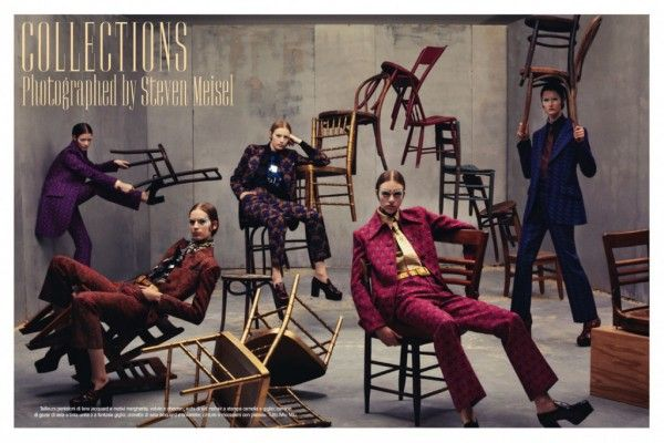 "First look of AW12-13 ""Collections"" Steven Meisel for Vogue ItaliaMiumiu, Italian Vogue, Steven Meisel, Italy July, Fashion Blog, Stevenmeisel, Fashion Photography, Fashion Editorial, July 2012"