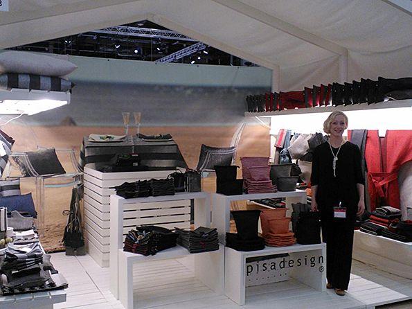 Pisa Design's designer Satu Somero at Habitare the biggest design fair in Finland, Sebtember 2013. Pisa Designin suunnittelija Satu Somero Habitare-messuilla syyskuussa 2013.