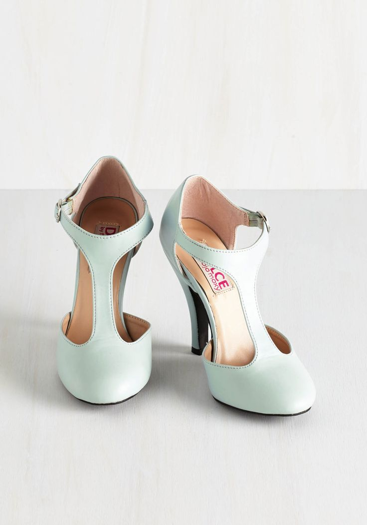 To Pastel You the Truth Heel. It's a fact - you look perfectly charming in these Dolce by Mojo Moxy pumps! #mint #prom #wedding #modcloth