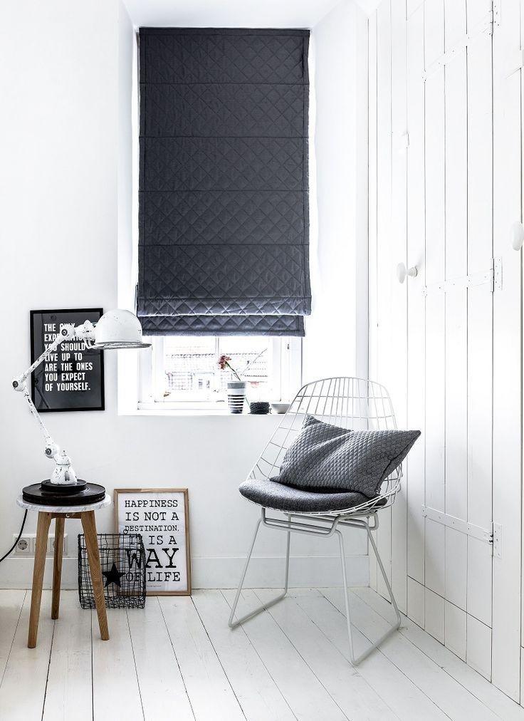 #vouwgordijnen van #bece met gewatteerde stof. #uniek #raamdecoratie #inspiratie www.bece.nl