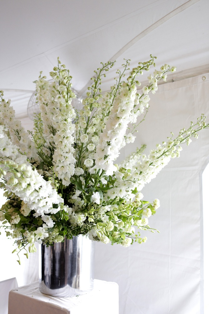 all white www.belathee.com | tall flower arrangements ...