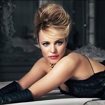 She is the first person that makes me want to style my hair and eyes in that fashion. Rachel McAdams.