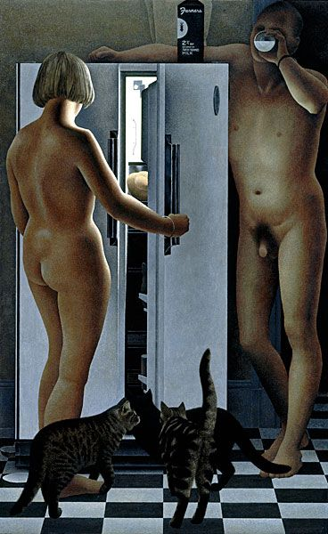 Refrigerator — painting by Alex Colville