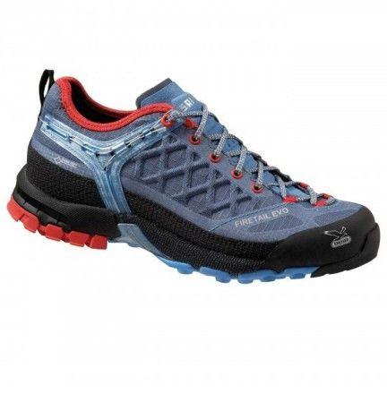 Chaussure Salewa Ws Firetail Evo Gtx Bleu - Chaussure pour femme Trek et randonnée - Activités montagne - Boutique Cottay Shop Adhérence, robustesse et technicité en font l'un des modèles phares de la marque Salewa