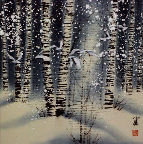 Все засыпал снег. Одинокая старуха В хижине лесной.  #БАСЁ