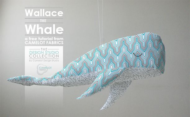 Fabric Whale Tutorial with free pattern. Great gift idea for babies!
