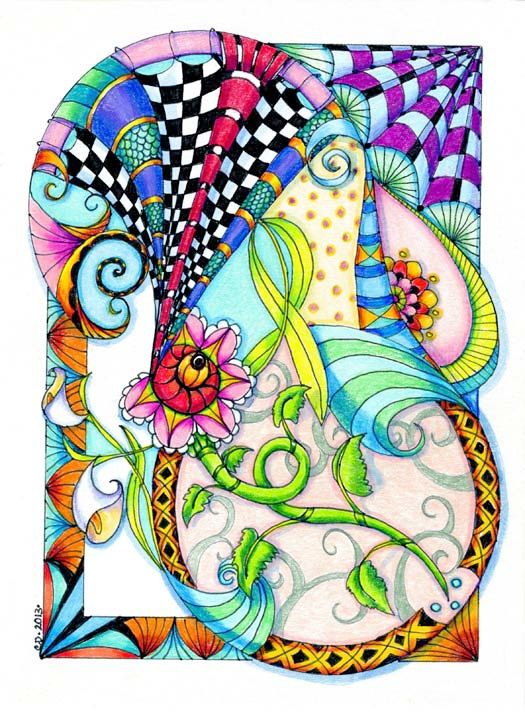 Zen Art Doodle Victoria ACEO by cditerlizzi on Etsy, $5.00