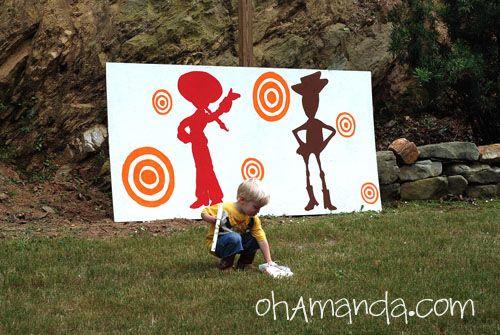 a little Toy Story Midway Mania with marshmallow guns!: Man Birthday, Beka Birthday, Birthday Parties, Anthony Birthday, Birthday Party Games, Asa Birthday, Games Ideas, Andrew Ideas, Birthday Ideas