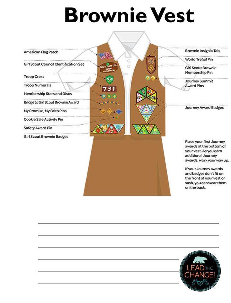 Girl Scout Brownie Troop Leader Binder uniform reference guide.