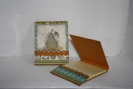 Stampin Up: Faith in Nature.  Post it note holder. Nice hostess gift or project.