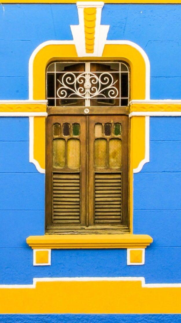Colorful window in Olinda, Pernambuco, Brazil