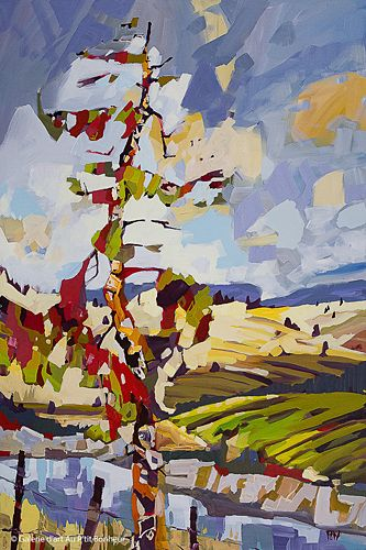 Rick Bond, 'Red Pine Summer', 40'' x 60'' | Galerie d'art - Au P'tit Bonheur - Art Gallery