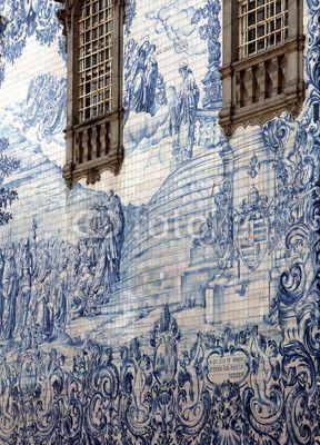 Azulejo in Porto, Portugal