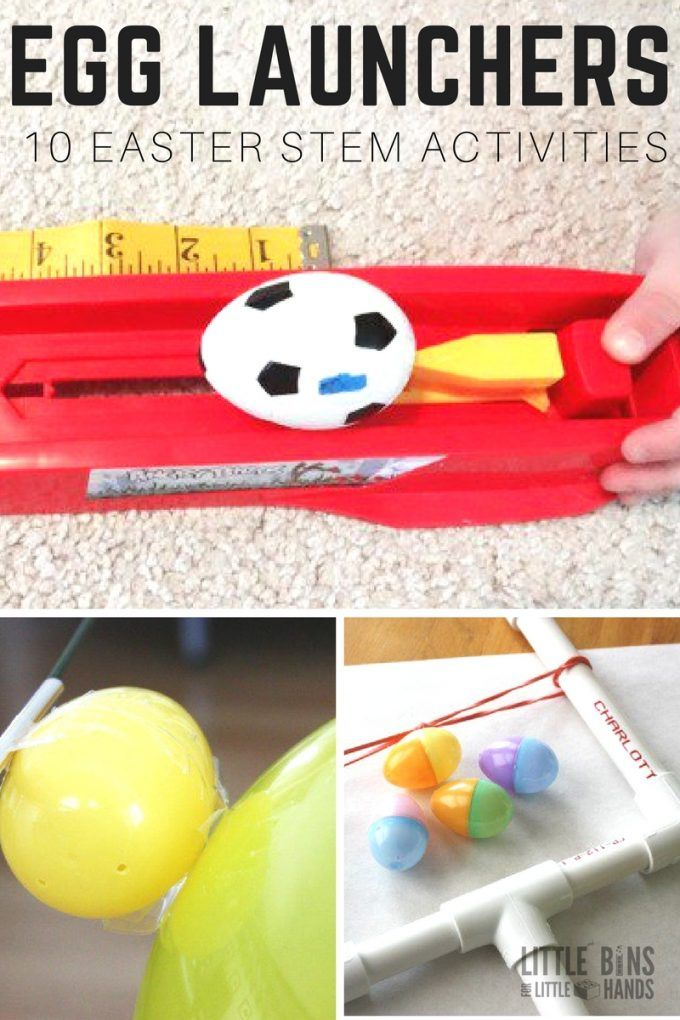 Awesome egg launchers Easter science and STEM activities for kids. Make Easter catapults, try an egg drop challenge, make an Easter egg rocket, and plant more for Easter STEM.