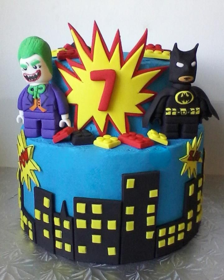 Lego Batman & Joker  - Cake by krazyjenn