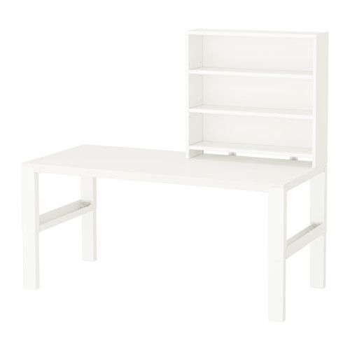PÅHL Bureau met open kastje - wit - IKEA