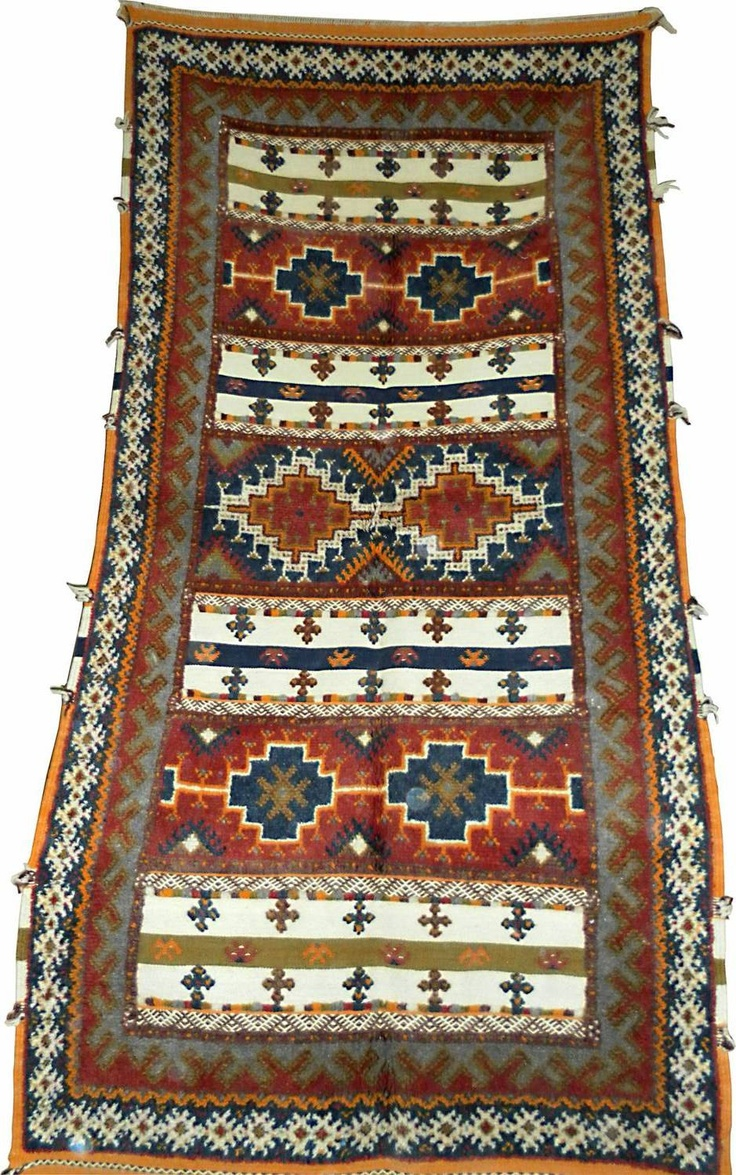 "Hand knotted / Flat woven "" GLAWA"" MOROCCAN RUG. $380.00, via Etsy."