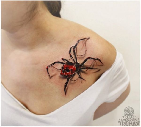 krabbelige spinnen tattoos tattoo ideen und ideen. Black Bedroom Furniture Sets. Home Design Ideas