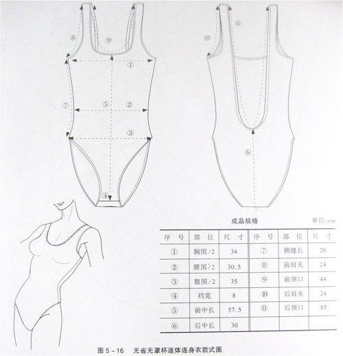 Bodysuit, patterns instructions, lingerie