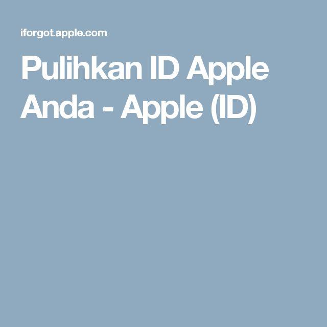 Pulihkan ID Apple Anda - Apple (ID)