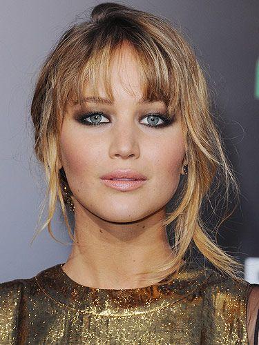Jennifer Lawrence eye makeup for hooded eyes
