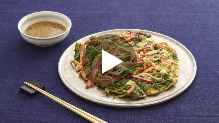 せりと桜えびの韓国風お好み焼き(ジョン)の人気レシピ・作り方   素人の味から今日で卒業、家庭で作れるプロの絶品レシピ! ゼクシィキッチンでかんたん・おいしい