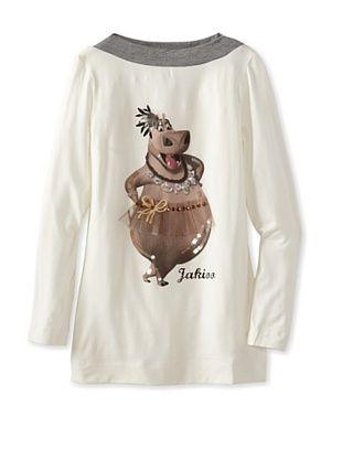 55% OFF Monnalisa Girl's Hippo Shirt (Cream/Gray)
