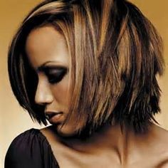 funky highlights for dark hair - Google Search