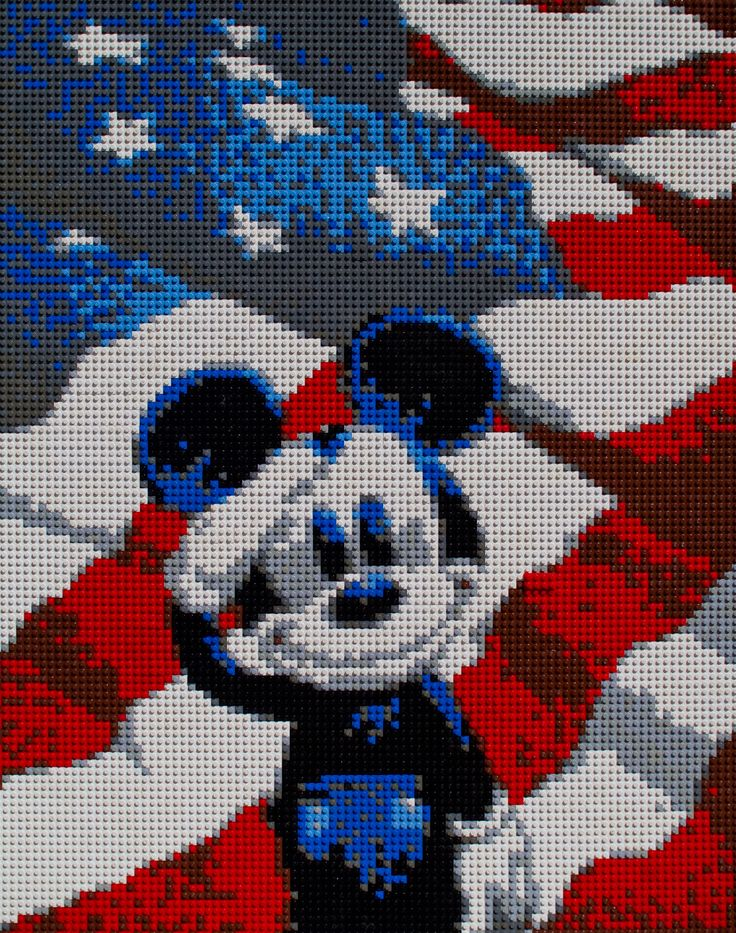 lego mickey mosaic - created by my brother, originally pinned by another pinner :)