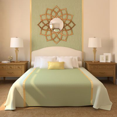 Green Dream bedroom chic! Aline