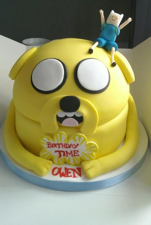 adventure time cake  Bryan needs this for his next bday!  @Bridget Akers, think you could do it?!