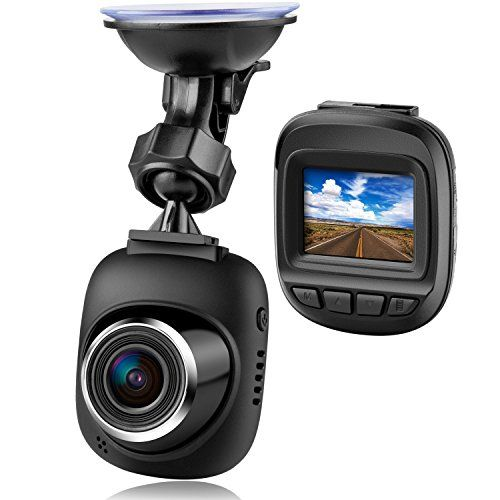Dash Cam by Fliiners Mini LCD Car Dvr Camera Recorder with FHD 1080P Night Vision Loop Recording for Cars