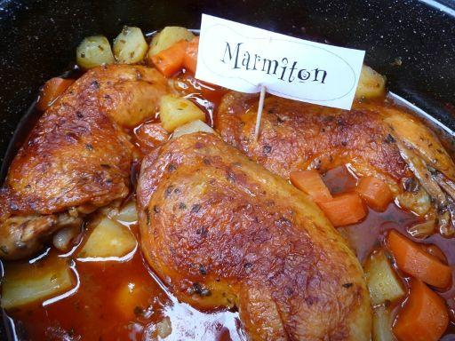 Cuisses de poulet faciles et qui changent - Recette de cuisine Marmiton : une recette