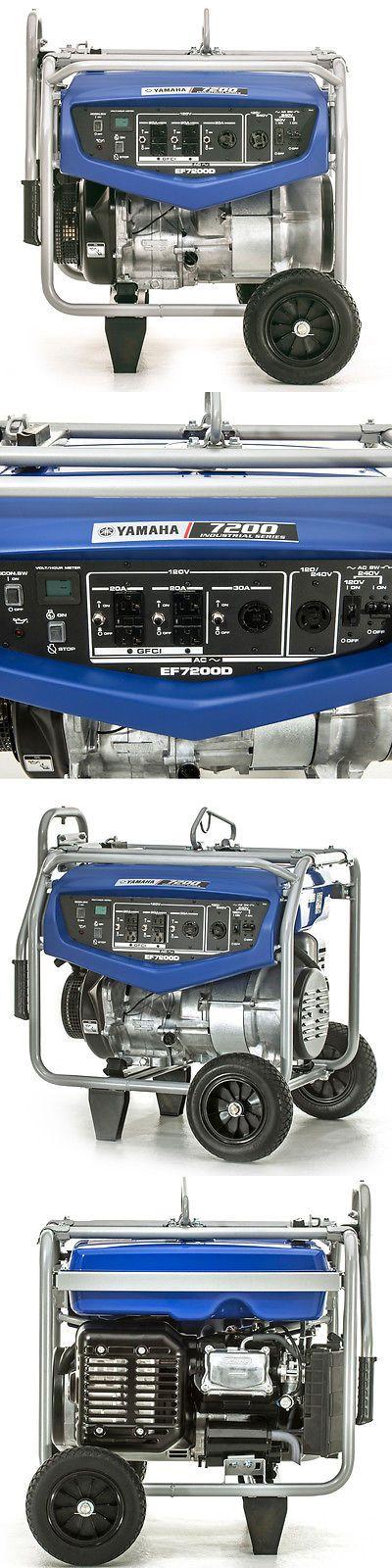 Generators 33082: Yamaha Ef7200d 7200 Watt Gas Powered Portable Rv Camping Home Backup Generator -> BUY IT NOW ONLY: $1299.99 on eBay!