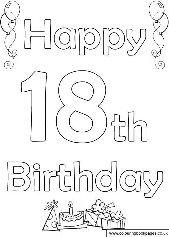 Happy 18th Birthday Coloring Pages Birthday Ideas Happy Birthday Coloring Pages Birthday Coloring Pages 18th Birthday Cards