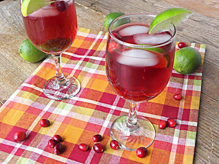 Cranberry Lime Spritzer: Non-Alcoholic, No Sugar Added