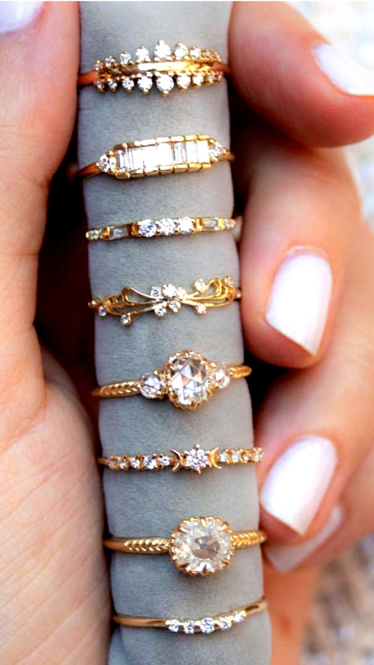Women jewelry in 2020 Gold ring designs, Gold rings