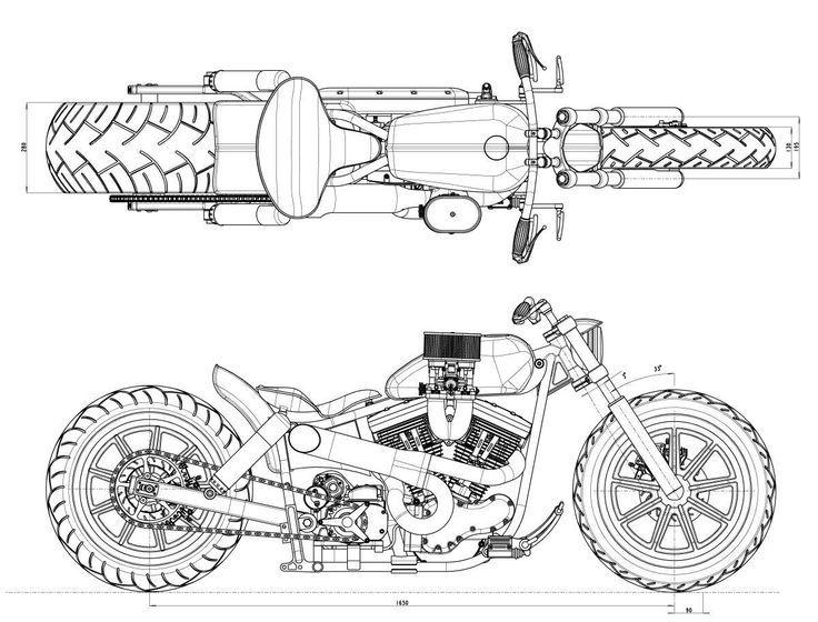 чертежи мотоциклов картинки покрытий