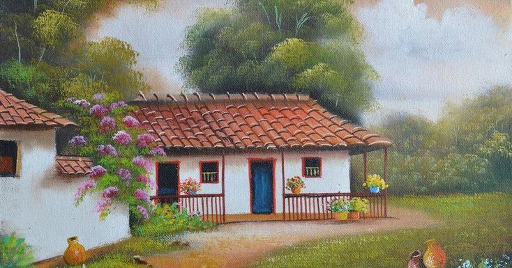 Paisajes Fáciles de Pintar Pintor Gabriel Nieto Nieto (Neiva Huila Colombia) Paisajes Colombianos / Paisajes Artísticos/ Pintura...