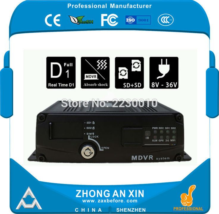 MDVR 4CH Dual Mini SD Card VOZIDLA Mobile DVR