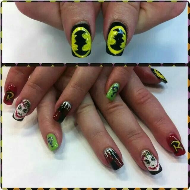 Batman nails by Kayla