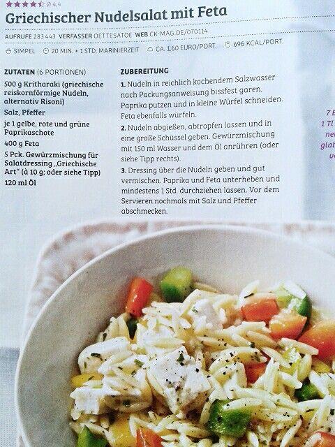 Griechische Nudel Salat mit feta - Insalata greca di pasta con feta