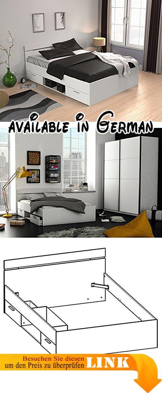 B07411H7HX : Kompaktbett Doppelbett Bettgestell Bett Bettrahmen ...