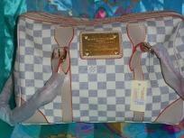 Louis Vuitton-checkered bag