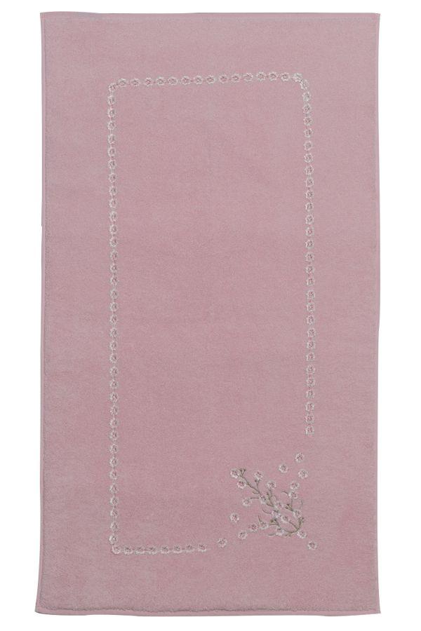 Dywanik łazienkowy w kolorze rozowe i lososowe ze 100% czesanej bawełny są nowością w naszej ofercie. Miękkość, elegancki haft i chłonność to jego największe zalety. Razem z ręcznikami i szlafrokami HAYAL i RUYA doprowadzą Twoją łazienkę do doskonałości.